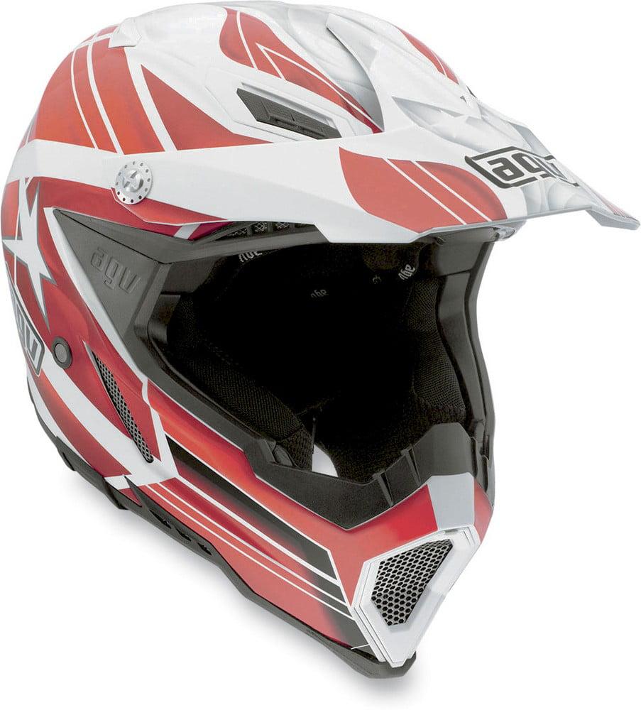 AGV AX-8 EVO Flagstars MX Offroad Helmet White/Red
