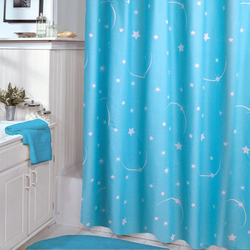Veratex Glow In The Dark Stellar Shower Curtain