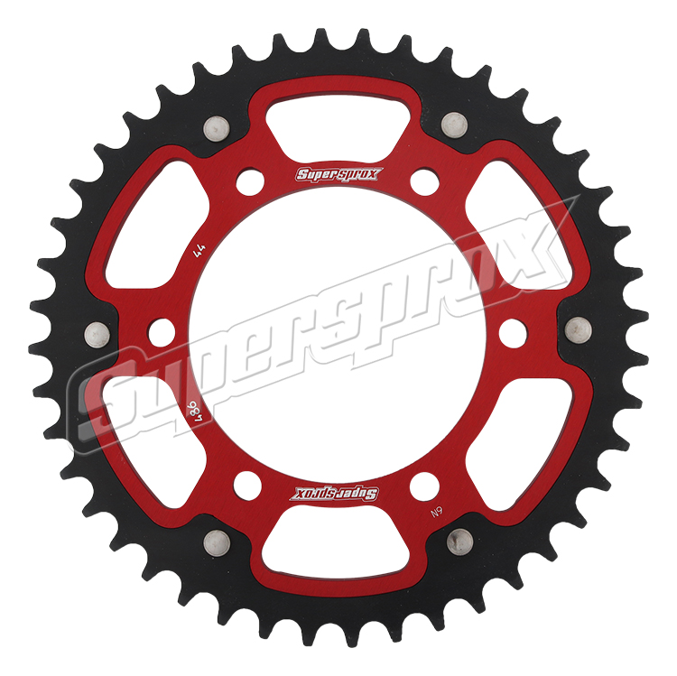 New Supersprox - Red Stealth Sprocket, 44T, Chain Size 520, Rst-486-44-Red