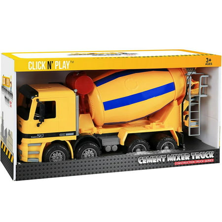 Click N' Play Friction Powered Cement Truck Construction Toy Vehicle for - Construction Truck