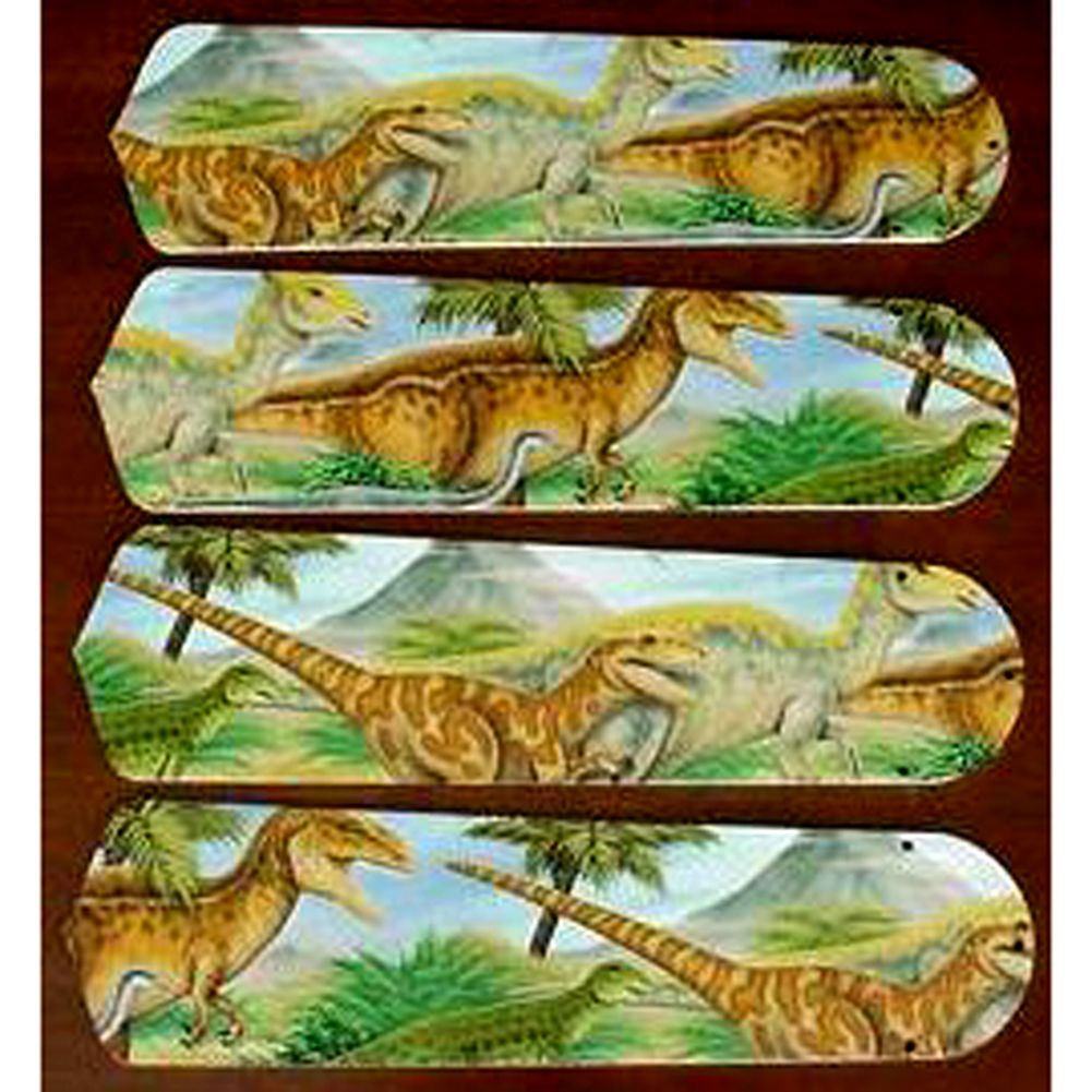 Green Dinosaurs Custom Designer 42in Ceiling Fan Blades Set