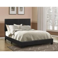 Upholstered Bed, Queen Bed, Black