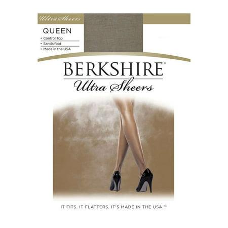 Berkshire Women's Plus Size Queen Ultra Sheer Control Top Pantyhose - Sandalfoot 4411 ()