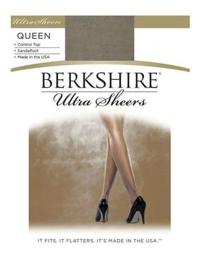 Berkshire Women's Plus Size Queen Ultra Sheer Control Top Pantyhose - Sandalfoot 4411