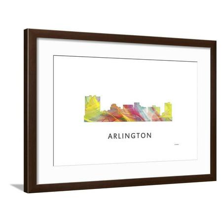 Arlington Texas Skyline Framed Print Wall Art By Marlene - Halloween Arlington Texas