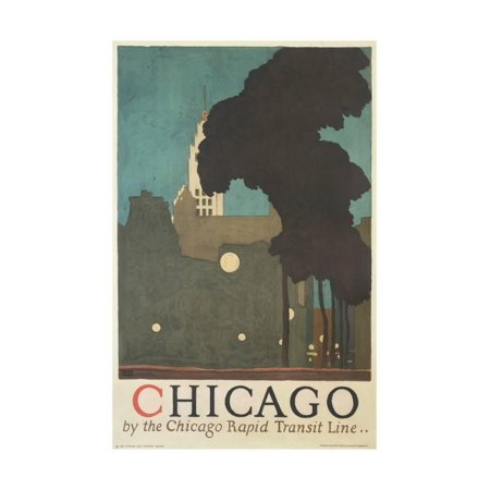 Chicago by the Chicago Rapid Transit Line Print Wall Art By Ervine Metzl
