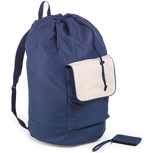 Homz Laundry Carry Pack Hamper, Navy Blue