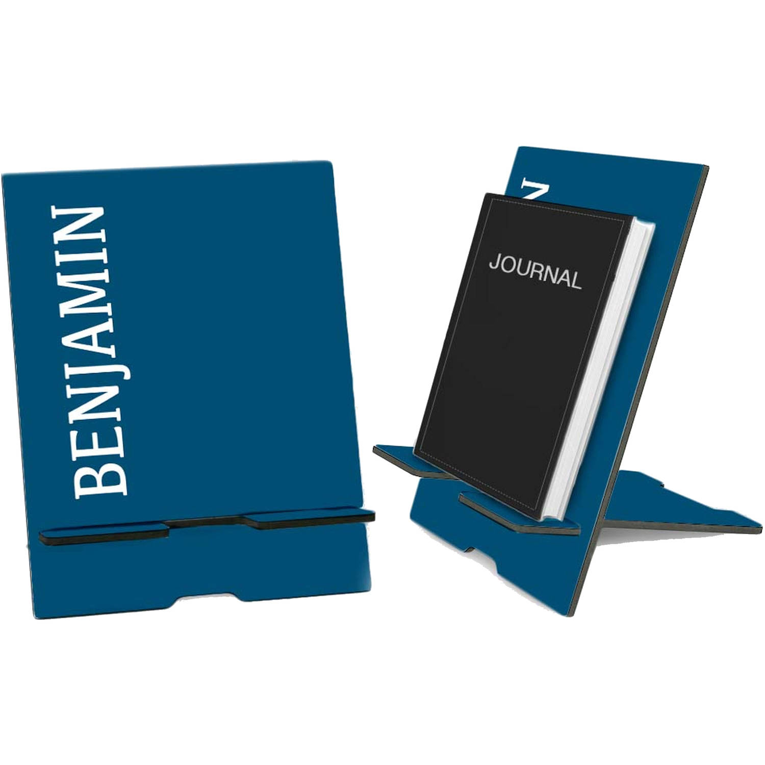 Blue Personalized Book and iPad Stand