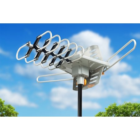 TV Antenna Outdoor Amplified HDTV Antenna 150 Mile Motorized with 18