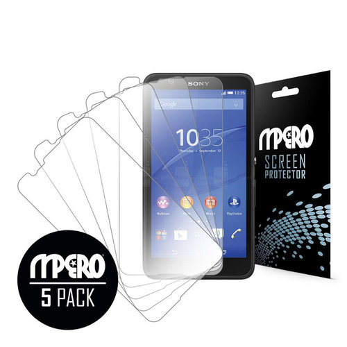 Sony Xperia E4, Screen Protectors, 5-Pack, Clear