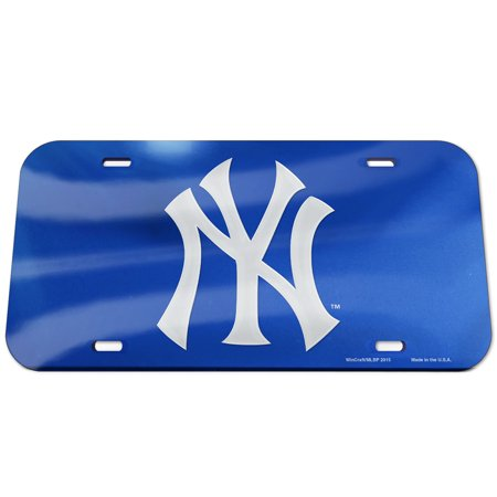 New York Yankees WinCraft Logo Crystal Mirror License Plate - No -