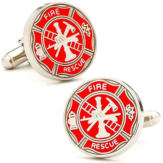 Cufflinks PD-FIRE-SL Firemens Shield Cufflinks
