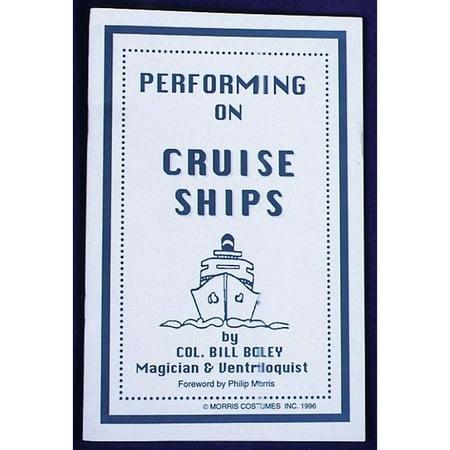 Morris Costumes Performing On A Cruise Ship Magic Book - Lahaina Halloween Cruise