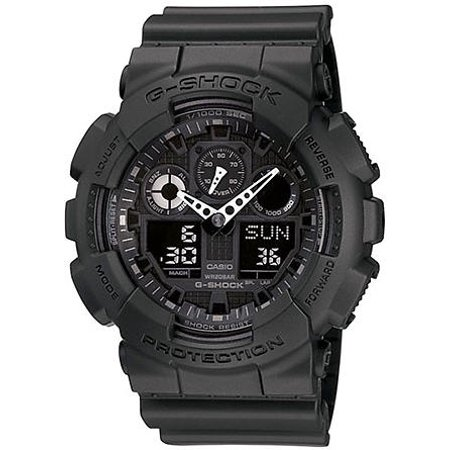 - G-Shock Analog Digital Blackout Military Watch GA100-1A1