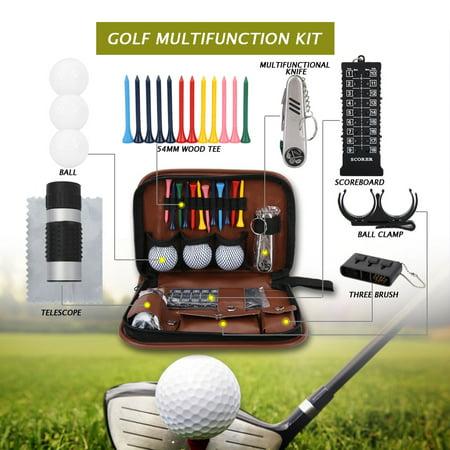 Qiilu Outdoor Sport Golfer Gift Set Tool PU Bag Golf Accessoires Kit Multifunctional,Golfer Tool Kit Bag, Golfer Tool Set Kit Bag - image 1 of 8