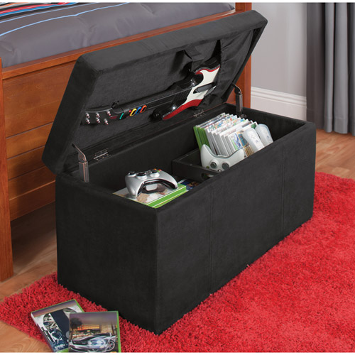 ... your zone gaming storage ottoman black & your zone gaming storage ottoman black - Walmart.com