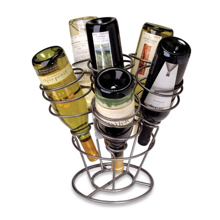 Oenophilia 6-Bottle Bouquet Wine Rack Gunmetal Finish