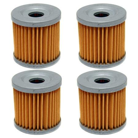4 Pack Oil Filters Arctic Cat DVX 400, Kawasaki KFX 400, Suzuki LTZ400  LTR450