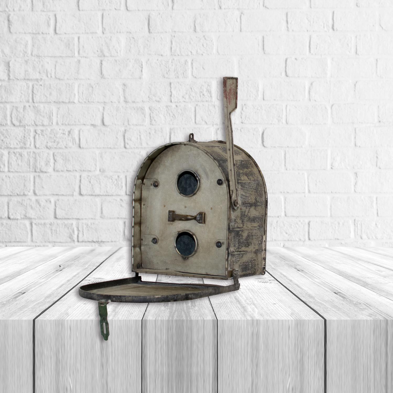 "Mailbox Birdhouse Tin Home Decor Decorative 9.5"" x 8.5"""
