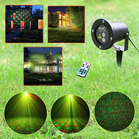 Home Garden Led Light Moving Landscape Laser Projector Fountain Outdoor Indoor
