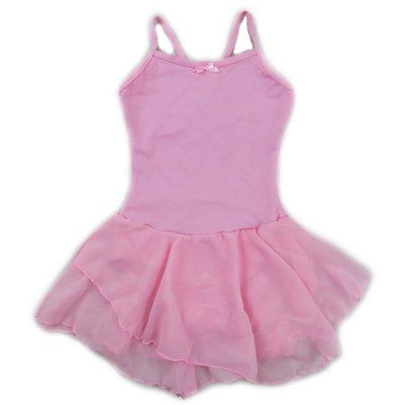 Wenchoice Girls Pink Skirted 2 Layer Spaghetti Strap Leotard (Baby Leotard 18 Months)