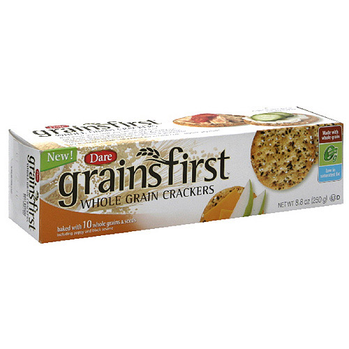 Dare Grainsfirst Whole Grain Crackers, 8.8 oz (Pack of 12)