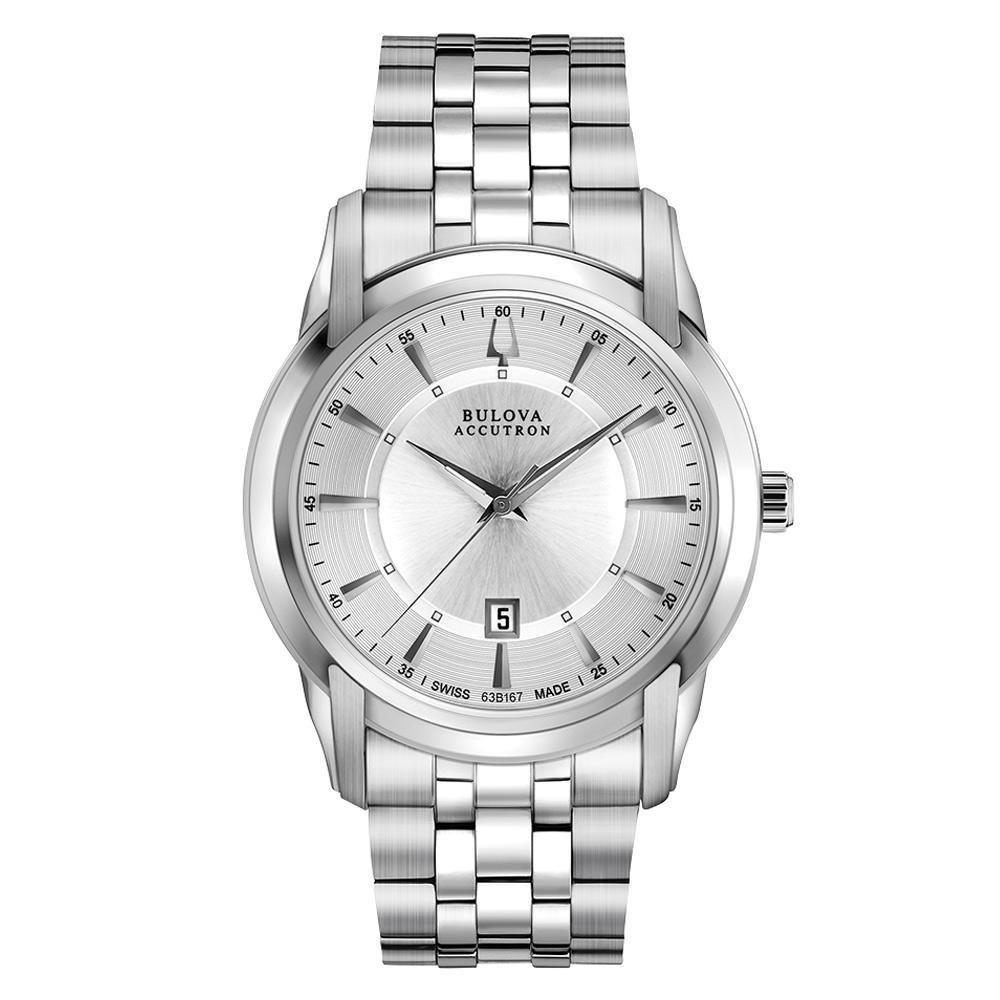 Bulova Accutron Swiss Made Men's Stainless Steel Watch, S...