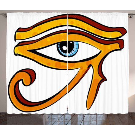 Eye Curtains 2 Panels Set Ancient Eye Of Horus Mystic Egyptian