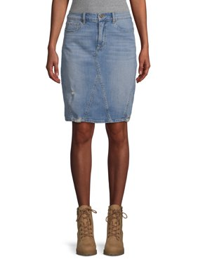 Scoop Denim Pencil Skirt Medium Wash Women's