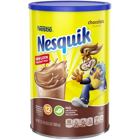 NESQUIK Chocolate Powder 2.21 lb. Canister Chocolate Drink Mix