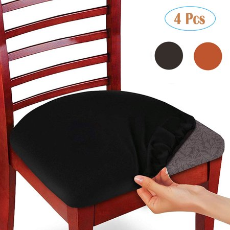 EEEKit Stretch Spandex Jacquard Dining Room Chair Seat Covers, Removable  Washable Anti-Dust Dinning Upholstered Computer Office Chair Seat Cushion  ...