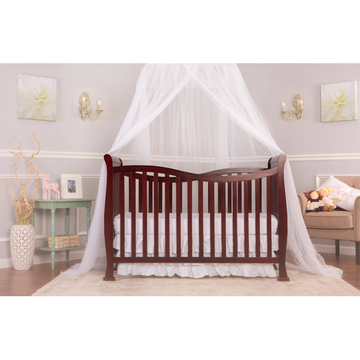 Dream On Me 7-in-1 Convertible Life style Crib, Cherry