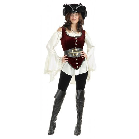 Pirate Lady Vixen Adult Costume - Small - Vixen Pirate Halloween Costume