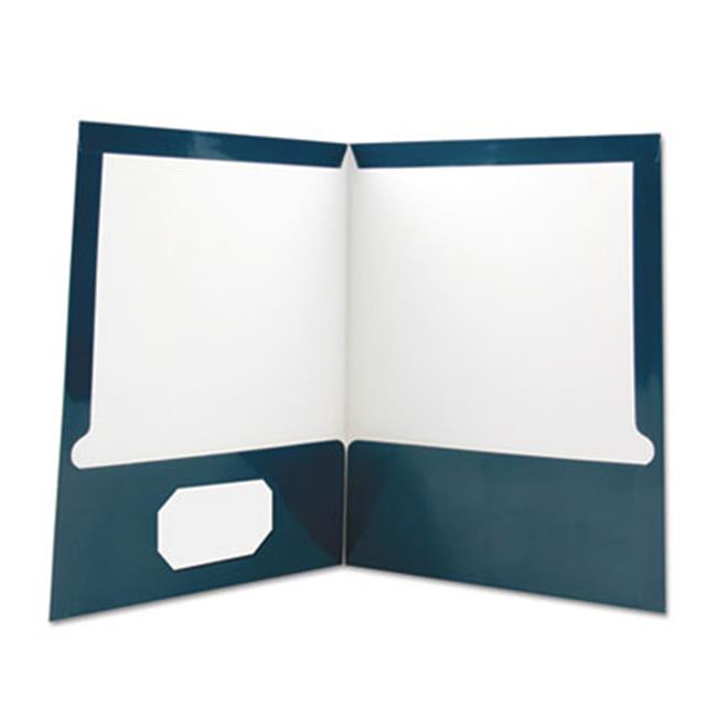 Universal Office Products Unv56418 Ltr Two Pocket Portfolios Dark Blue Pack Of 25