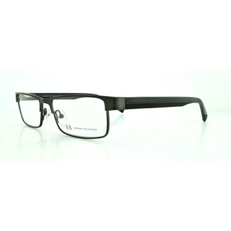 ARMANI EXCHANGE Eyeglasses AX 1009 6037 Satin Gunmetal Black (Armani Exchange Eyeglasses Frames)