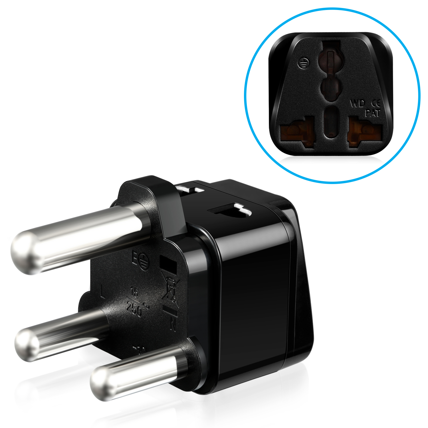 Fosmon Type M Universal Power Adapter - Black