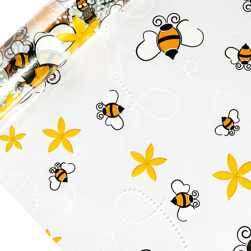 "Bees Printed Cellophane 30"" X 100' by Paper Mart"