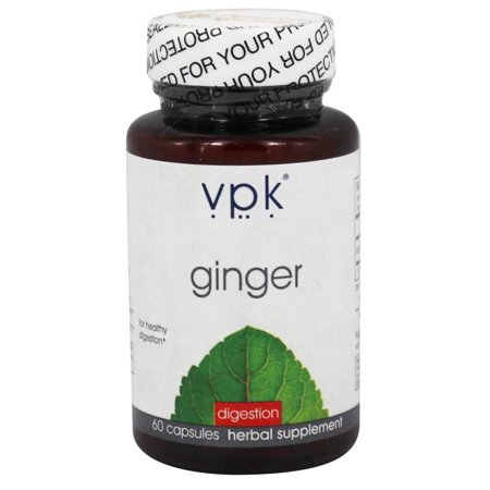 Ginger | 60 Vegetarian Capsules - 600 mg ea. | Holistic Digestive Aid | Natural Relief for Gas & Menstrual Cramps | Supports Respiratory Health | Calms Upset Stomach