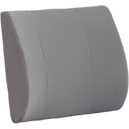 DMI Relax-a-Bac Lumbar Back Support Cushion Pillow with Insert and Strap, Gray