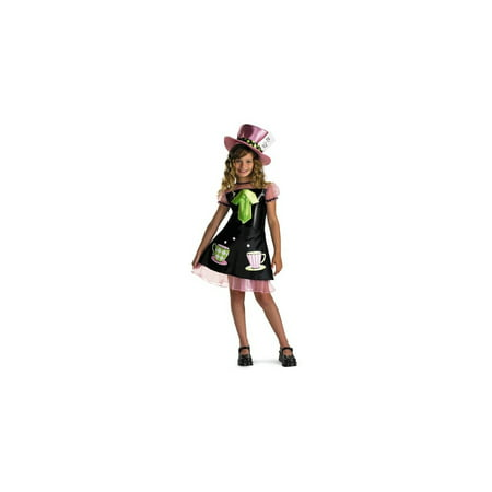 Mad Hatter Girls Costume](Pink Mad Hatter Hat)