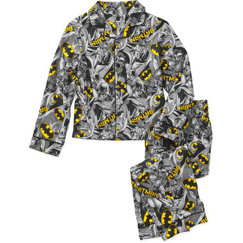 Boys' Licensed 2 Piece Poly Button Front Pajama Sleepwear Set, Available in 24 Characters
