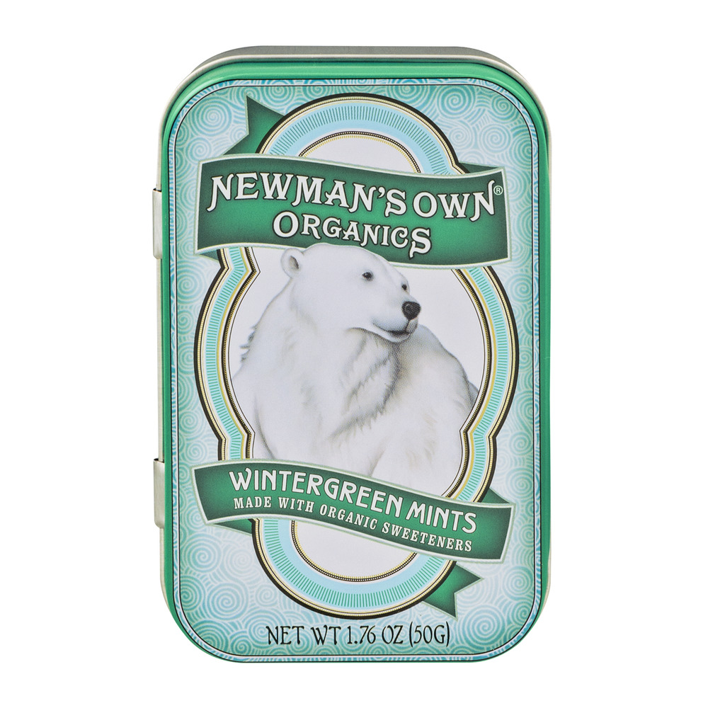 Newman's Own Organics Wintergreen Mints, 1.76 OZ