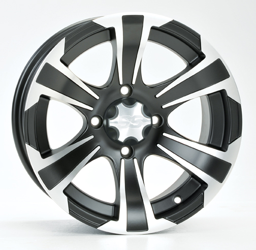 ITP SS312 Aluminum Wheel Front 14x6 Machined W/Matte Black Fits 11-12 Can-Am Commander 800R 4X4