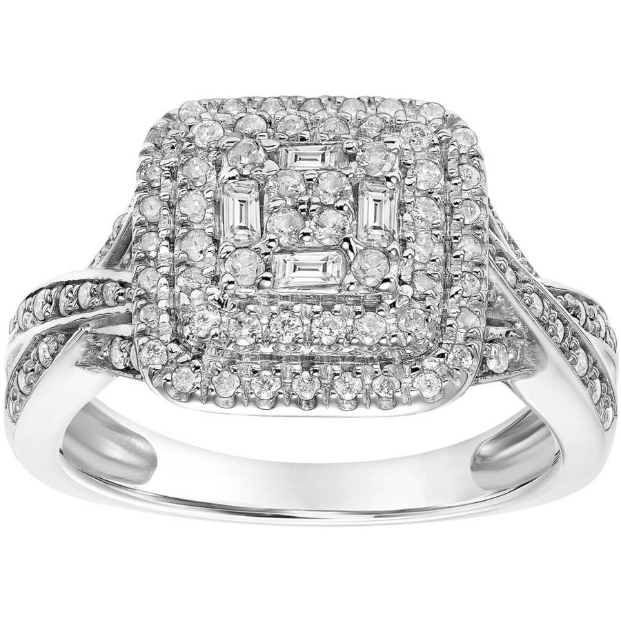 Keepsake Holiday 1/2 Carat T.W. Certified Diamond Sterling Silver Ring