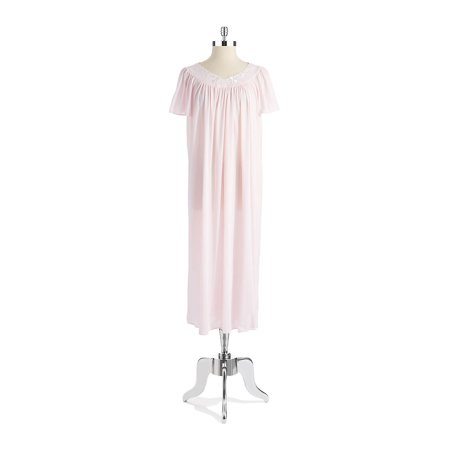 Plus Embroidered Floral Nightgown