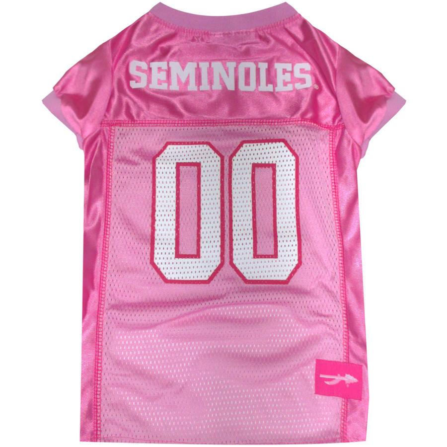 Pets First College Florida State Seminoles Pet Pink Jersey, 4 Sizes Available