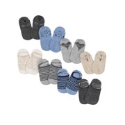 Gerber Baby and Toddler Boys Jersey No Show Wiggle Proof Socks, 8-Pack