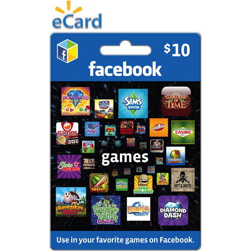 Facebook Games $10 eGift Card (Email Delivery)