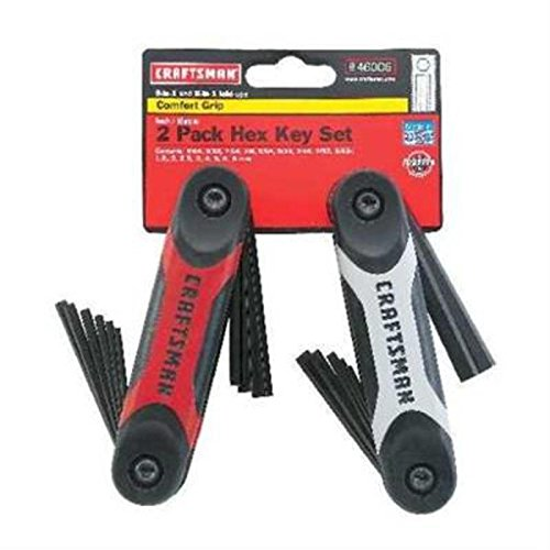 CRAFTSMAN 9-46006 2pc. Standard and Metric Dual Material Fold Up Hex Key Set