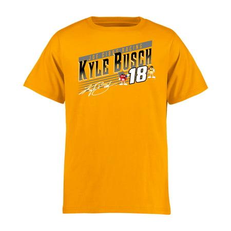 Kyle Busch Youth Crank Shaft T-Shirt - Gold (Kyle Busch Costume)